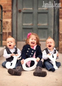 Children crying during pictures